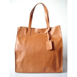 TOREBKA WOREK SHOPPER BAG  GENUINE LEATHER NA RAMIĘ  A4  CAMEL  GL4C